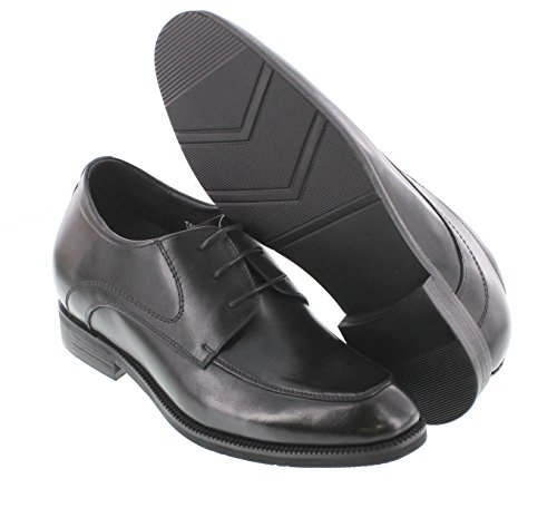 Calto T4101-3 Inches Taller - Hoogte Toenemende Liftschoenen - Zwarte Veter Formele Schoenen