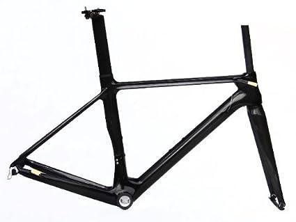 Amazon.com : Full Carbon 3K Glossy 700c Road Bike Bicycle BB30 Frame ...