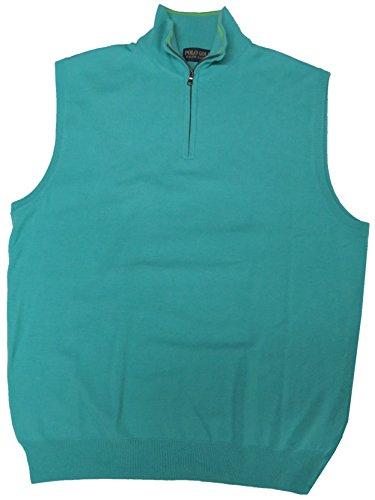 (Polo Ralph Lauren Men's Classic Golf Vest Sweater, Size XL, Light Blue)