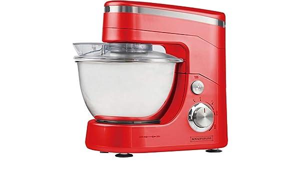 ROYALTY LINE - Robot de cocina con amasador, color rojo: Amazon.es: Hogar