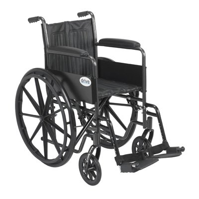 Drive DeVilbiss Healthcare SSP218FA-SF Silver Sport 2 Wheelchair, Height 36''