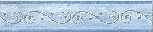 Selbstklebende Tapetenbordüre 3553-04 blau