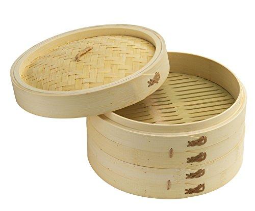 Joyce Chen 26-0013, Bamboo Steamer Set, 10-inch (Bamboo Steamer Set)