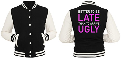 Better Late Than Ugly College Vest Girls Black