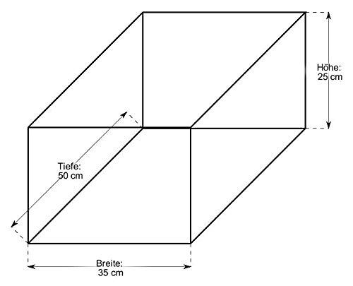 braun Einkaufskorb oval T 50cm x B 35cm x H 25cm