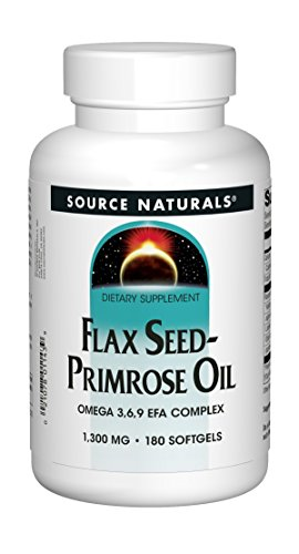 Total Efa Womens Formula - Source Naturals Flax Seed-Primrose Oil 1300 mg, Provides Nutritional Support During Women's Cycles, 180 Softgels