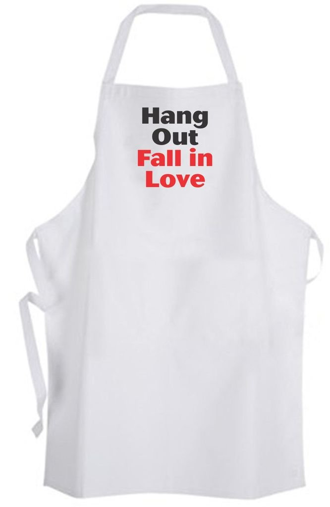 Hang Out Fall in Love – Adult Size Apron – Dating Relationship Wedding Flirty
