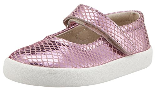 Old Soles Girl's Missy Leather Mary Jane Sneaker Shoe (Pink Snake, 27 M EU/10 M US Toddler) - Kid Snake Girl Sneaker