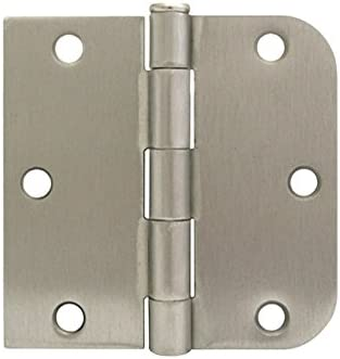 """3 1//2/"""" Satin Nickel Door Hinges Straight Square x 5//8/"""" Free shipping"""