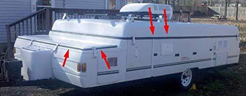 1997-2003 Coleman Fleetwood - Junta de goma para el techo de la tienda de campaña, remolque y contenedor de almacenamiento de 38 cm: Amazon.es: Amazon.es