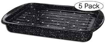 Granite Ware Roaster Broiler Set, 2-Piece Fiv k