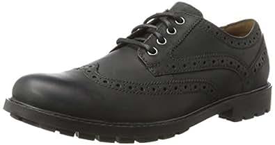 Clarks Curington Wing, Zapatos de Vestir para Hombre, Negro (Black Leather), 39.5 EU