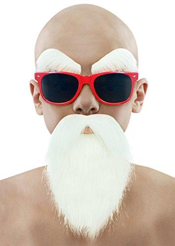 Party Chili Kids Dragon Ball Kame Sennin Master Roshi Costume White Beard Mustache With - With Glasses A Beard