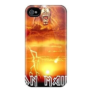 Bumper Hard Phone Cases For Iphone 5C With Custom High-definition Iron Maiden Image JamieBratt