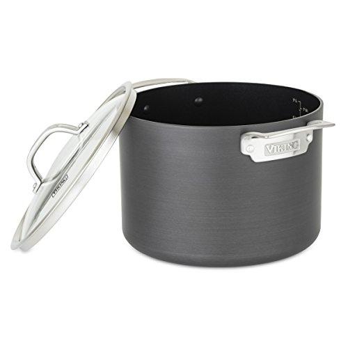 Viking 40051-0428 Hard Anodized Nonstick Stock Pot, 8 Quart, Gray by Viking Culinary