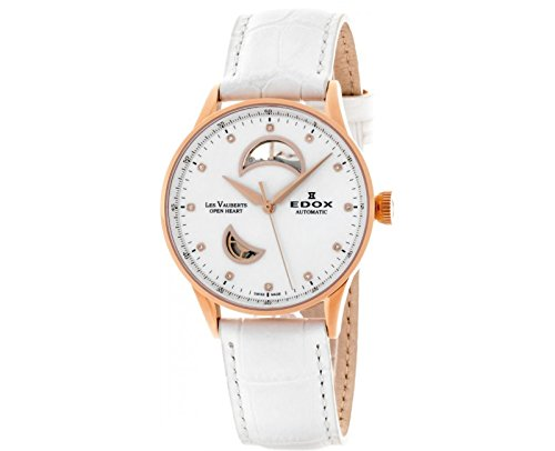 Edox-Womens-85019-37RA-NADR-Les-Vauberts-Analog-Display-Swiss-Automatic-White-Watch