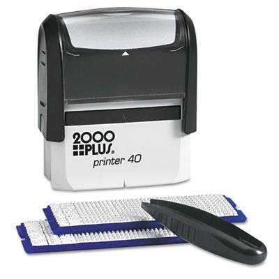 Cosco - 2000 Plus Custom Stamp Kit With Microban 5 Lines Black 2 5/16 X 7/8 Product Category: Labels Indexes & Stamps/Stamps & Stamp Supplies