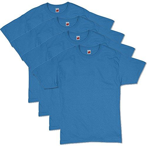 - Hanes Men's Comfortsoft T-Shirt (Pack Of 4),Denim Blue,Medium