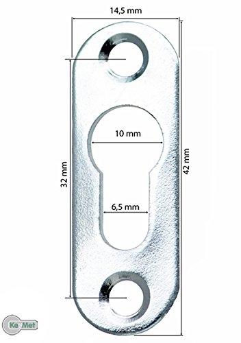 100 Linsenkopfbeschlag Schrankaufhä nger 42 x 14, 5 Loch 10 mm KeyMet GmbH