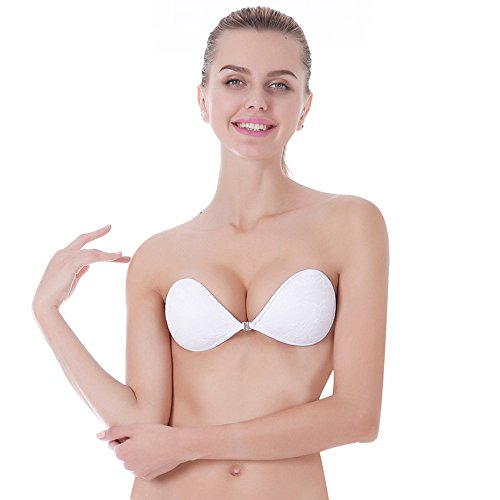 f0e656bc7088e Colleer Reusable Invisible Strapless Self Adhesive Backless Silicone Bra  For Womens (C