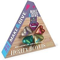 [Patrocinado] craft-tastic Make & dar Corazón Bowls–Craft Kit para hacer, Personalizar y compartir 5Forma de Corazón Glitter Bowls