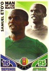 Match Attax World Cup 2010 ENGLAND Man of The Match CAMEROON Eto'o by Match Attax (World Cup 2010 Match)