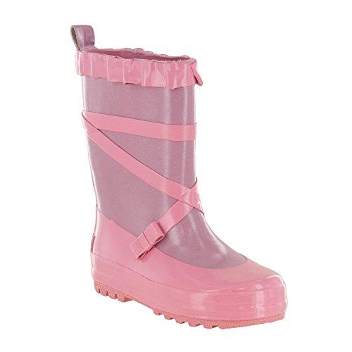 Northside Splashers Girl's Ballerina Rubber Waterproof Rain Boot (Little Kid/Toddler), Lt Purple/Lt Pink, Size 2 by Northside (Image #1)