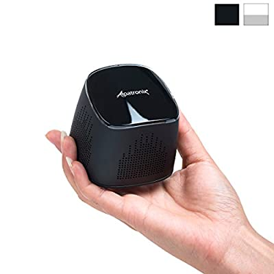Alpatronix AX400 Ultra-Portable Mini Bluetooth Speaker & Wireless Stereo System with Built-In Mic, Subwoofer & Speakerphone