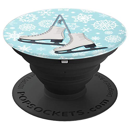 Ice Skates Snow Flakes Figure Skating Winter Cute Girl - PopSockets Grip and Stand for Phones and Tablets