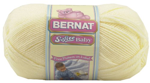 Solid Yarn - (3) Light Gauge 100% Acrylic - 5oz  -  Antique White  -  Machine Wash & Dry (Yarn White Sparkle)