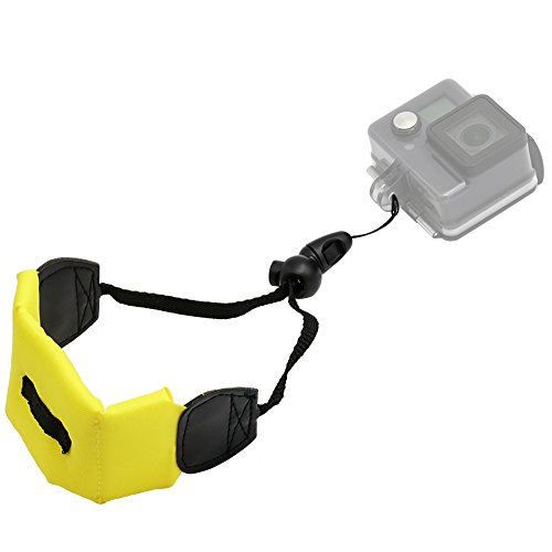 Kolasels Waterproof-Non-Slip Camera Float Strap with Hand Grip Lanyard, Wristband for Underwater GoPro,Waterproof Camera, Keys,Sunglass,etc (Yellow)