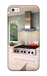 High Impact Dirt/shock Proof Case Cover For Iphone 5/5s (modern Kitchen With White Cabinets Amp Marble Countertops)