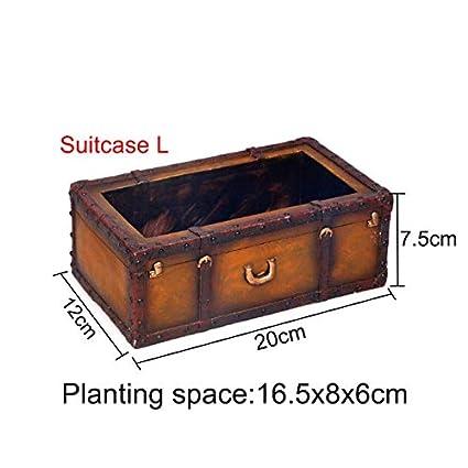 Amazon.com: Macetero de madera, 1 unidad, estilo vintage, de ...
