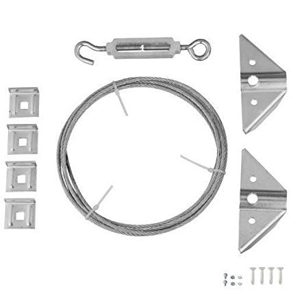 Rocky Mountain Goods Anti Sag Gate Kit - Extra Strength zinc plated steel - Outdoor Rust resistant design- Quick installation with gate repair kit instructions - Turnbuckle, hooks, heavy cable, screws