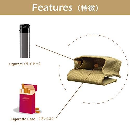 Azarxis Sac de Cigarettes Tactique Petite Poche Molle Pochette EDC Sacoche Étui Multifonctionnel pour Randonnée CS… 3