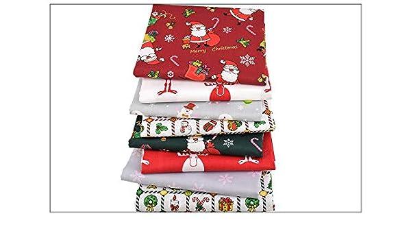 8 Ideales telas Navideñas para vestiditos, cocinas, cojines, costura, colchas, toallas, banderines, attrezo casa de muñecas, caravanas, guirnaldas, ...