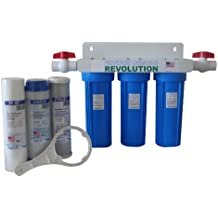 """Whole House 3-Stage Water Filtration System, 3/4"""" port with 2 valves and extra 3 filters set"""