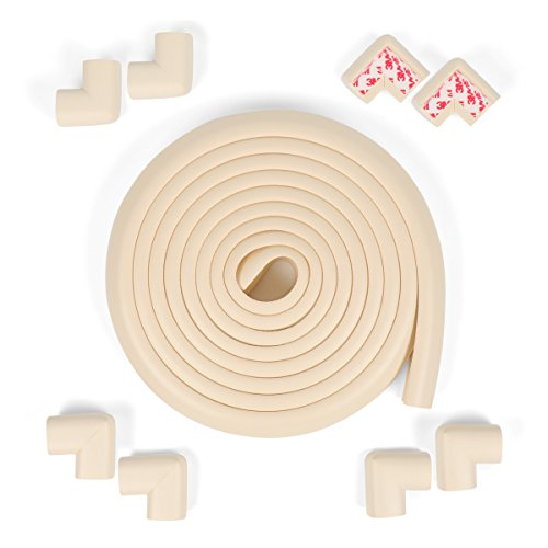 Edge & Corner Guards Safe Corner Cushion 20.4 ft(18ft Edge+8 Corners) Hearth Protector for Babies(Cream) … by MEETBABY (Image #7)
