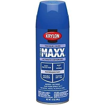 Krylon K09172000 Covermaxx Spray Paint Satin Oxford Blue 12 Ounce
