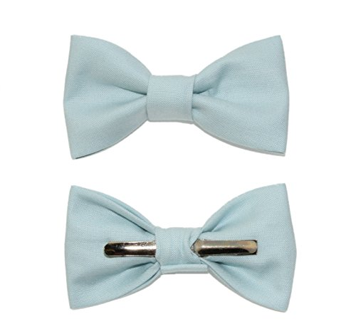 Toddler Boy 4T 5T Dusty Blue Clip On Cotton Bow Tie Bowtie by amy2004marie by amy2004marie