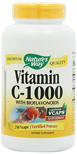 Nature's Way Vitamin C 1000-Bioflavonoids 250 Vcaps ( pack of 4) by Nature's Way