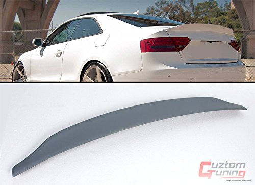 2008-2016 AUDI A5 S5 RS5 B8 CAT STYLE POLYURETHANE PU PRIMERED REAR TRUNK LID SPOILER WING