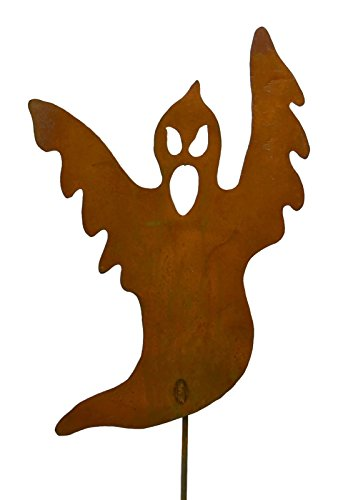 Spooky Ghost Rustic Metal Yard Stake. Whimsical Halloween Decoration Idea. Handcrafted by Oregardenworks in the USA!