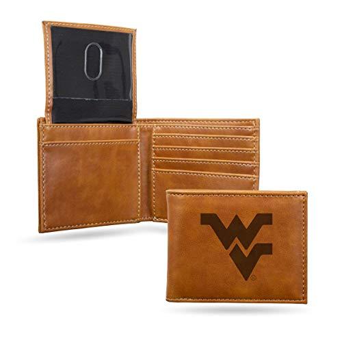 (Rico Industries NCAA West Virginia Mountaineers Laser Engraved Billfold Wallet, Brown)