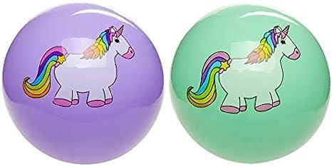 2 Unicornio bolas Pvc Partido Pelota 23cm: Amazon.es: Juguetes y ...