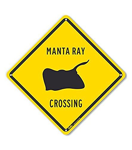 PetKa Signs and Graphics PKAC-0511-NA_10x10 Manta Ray Crossing Aluminum Sign, 10