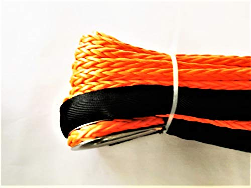 Jutemill Synthetic Winch Rope - 1/2'' x 50' Feet Winch Cable Orange Winch Rope 23700 LBs with Sheath for ATVs Winches ATV UTV SUV Truck Boat Ramsey Synthetic Winch Rope by AAYU