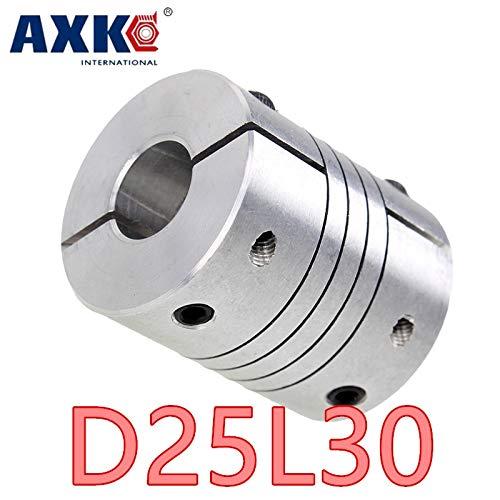 Ochoos 2pcs 5x12mm Jaw Shaft Coupler Flexible Coupling 25x30mm Shaft Coupler 5 Mm to 12mm D25 L30