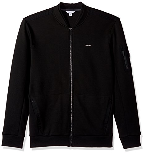 Calvin Klein Men's Lightweight Zip Up Weekend Layer Sweater, Black, Large