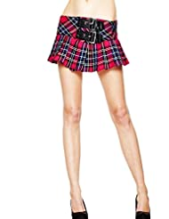 Hell Bunny Chelsy Tartan Check Emo Punk Mini Skirt